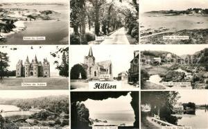 AK / Ansichtskarte Hillion Pointe des Guettes Route d'Hillion Plage de Hostellerie Chateau des Aubiers Eglise Usine et Moulin Rolland Barrage du Pont Rolland La Grotte de l'Ermot Etang des Ponts Neufs Hillion