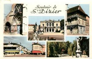 AK / Ansichtskarte Saint Dizier_Haute Marne Hotel de Ville Le Portail de l'Eglise ND Maison Ancienne La Place d'Armes Les Jardins du Musee Saint Dizier Haute Marne