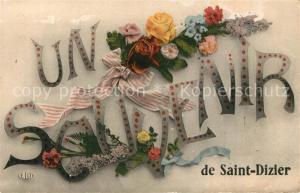 AK / Ansichtskarte Saint Dizier_Haute Marne Un Souvenir Saint Dizier Haute Marne