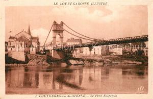 AK / Ansichtskarte Couthures sur Garonne Le Pont Suspendu Couthures sur Garonne