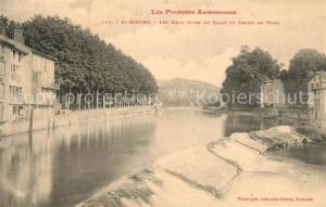 AK / Ansichtskarte Saint Girons_Ariege Les deux rives du Salat et Champ de Mars Saint Girons Ariege