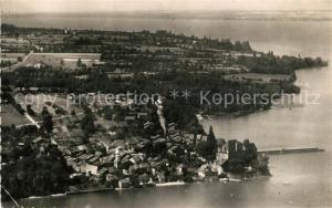 AK / Ansichtskarte Yvoire et le Lac Leman vue aerienne Yvoire