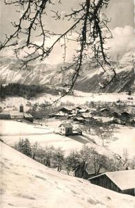 AK / Ansichtskarte Araches la Frasse Vue generale en hiver Alpes Araches la Frasse