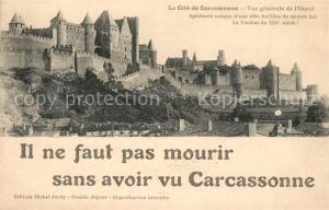 AK / Ansichtskarte Carcassonne La Cite vue de l ouest Carcassonne