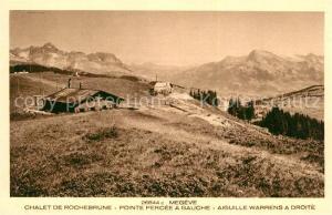 AK / Ansichtskarte Megeve Chalet de Rochebrune Pointe Percee Aiguille Warrens Alpes Megeve