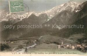 AK / Ansichtskarte Chamonix Les Houches Chaine du Mont Blanc Alpes Chamonix