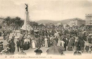 AK / Ansichtskarte Nice_Alpes_Maritimes Les Jardins et Monument du Centenaire Nice_Alpes_Maritimes