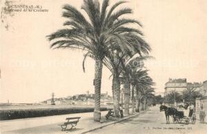 AK / Ansichtskarte Cannes_Alpes Maritimes Boulevard de la Croisette des palmiers Cannes Alpes Maritimes