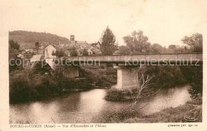 AK / Ansichtskarte Bourg et Comin Vue d ensemble Pont sur l Aisne Bourg et Comin