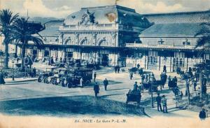 AK / Ansichtskarte Nice_Alpes_Maritimes La Gare Nice_Alpes_Maritimes