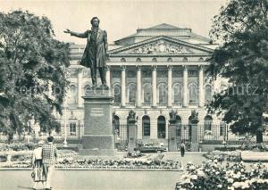 AK / Ansichtskarte Leningrad_St_Petersburg Russische Museum DenkmaL Puschkin Leningrad_St_Petersburg
