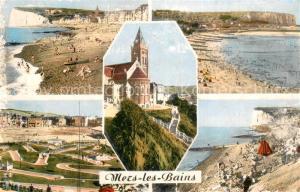 AK / Ansichtskarte Mers les Bains Vue generale Plage Eglise Saint Martin Golf Miniature Mers les Bains