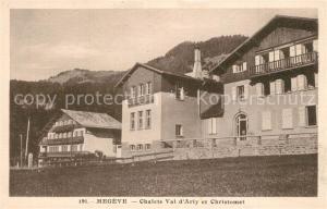 AK / Ansichtskarte Megeve Chalets Val d Arly et Christomet Megeve