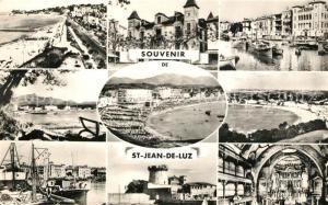 AK / Ansichtskarte Saint Jean de Luz Pointe Sainte Barbe Maison Louis XIV Port Maison de l Infante La Rhune Plage Fort de Socoa Eglise Saint Jean de Luz