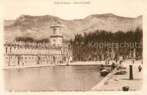 AK / Ansichtskarte Toulon_Var Arsenal Maritime Quai de l Horloge Toulon_Var