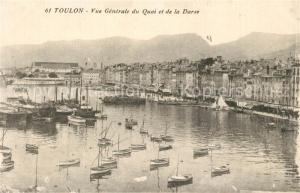 AK / Ansichtskarte Toulon_Var Vue generale du Quai et de la Darse Port Cote d Azur Toulon_Var