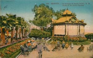 AK / Ansichtskarte Menton_Alpes_Maritimes Le Kiosque du Jardin Public Menton_Alpes_Maritimes