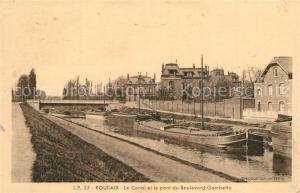 AK / Ansichtskarte Roubaix Le Canal et le pont du Boulevard Gambetta Roubaix