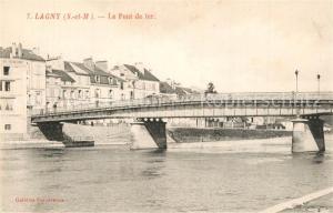 AK / Ansichtskarte Lagny sur Marne Le Pont de fer Lagny sur Marne