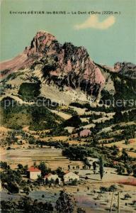 AK / Ansichtskarte Evian les Bains_Haute_Savoie La Dent d Oche Evian les Bains_Haute