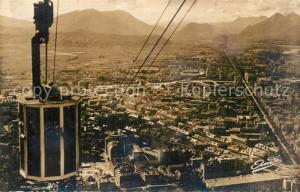 AK / Ansichtskarte Grenoble Le Telepherique de la Bastille Perspective sur la Ville Grenoble