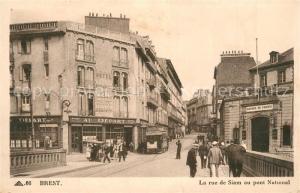 AK / Ansichtskarte Brest_Finistere La rue de Siam au pont National Brest_Finistere