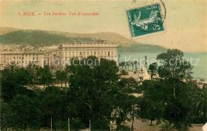 AK / Ansichtskarte Nice_Alpes_Maritimes Les Jardins Vue d ensemble Nice_Alpes_Maritimes