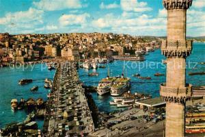 AK / Ansichtskarte Istanbul_Constantinopel Galata Bruecke Istanbul_Constantinopel
