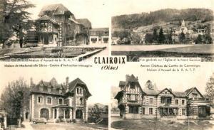 AK / Ansichtskarte Clairoix Maison d'Accueil de la RATP Eglise et le Mont Ganelon Maison de Mademoiselle Silbieu Chateau du Comte de Comminges Clairoix