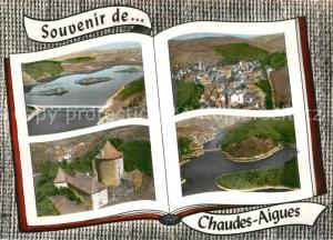 AK / Ansichtskarte Chaudes Aigues Le Cirque de Mallet Vue generale Le Chateau du Couffour Les Gorges de la Truyere Au Pont de Treboul Chaudes Aigues