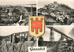 AK / Ansichtskarte Garabit_Viaduc_Construction_Eiffel Viaduc de Garabit Vue generale de Saint Flour Chateau de Sailhans