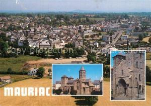 AK / Ansichtskarte Mauriac_Cantal Vue panoramique et la basilique ND des Miracles Mauriac Cantal