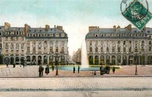 AK / Ansichtskarte Rennes_Ille et Vilaine Place du Palais Rue Bourbon