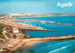 AK / Ansichtskarte Agadir Fliegeraufnahme Hafen Agadir
