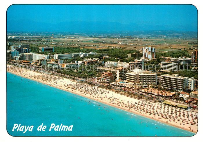 AK / Ansichtskarte Playa_de_Palma_Mallorca Fliegeraufnahme Playa_de_Palma_Mallorca 0