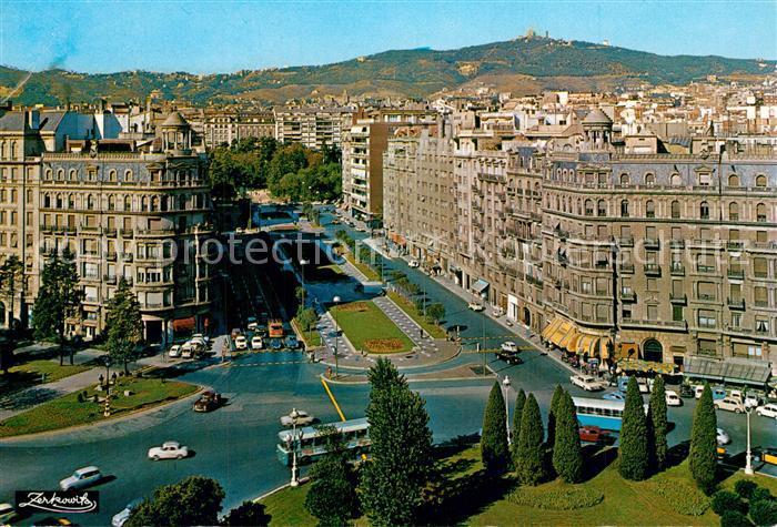 AK / Ansichtskarte Barcelona_Cataluna Fliegeraufnahme Avenida General Goded Barcelona Cataluna 0