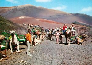 AK / Ansichtskarte Lanzarote_Kanarische Inseln Montana del Fuego Caravana Lanzarote