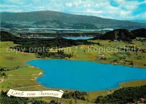 AK / Ansichtskarte Turnersee Fliegeraufnahme Klopeiner See Stausee Turnersee
