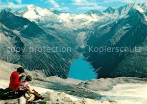 AK / Ansichtskarte Zillertal_Tirol Gletscherhuette Schlegeis Stausee Zillertaler Gletscher  Zillertal_Tirol