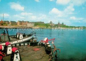 AK / Ansichtskarte Szczecin_Stettin Panorama Fischerboote Szczecin_Stettin