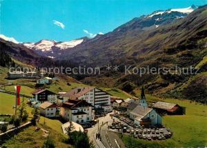 AK / Ansichtskarte Obergurgl_Soelden_Tirol Panorama Hotel Kirche Obergurgl_Soelden_Tirol