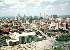 AK / Ansichtskarte Kansas_City_Missouri Union Station Skyline