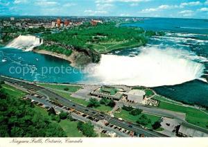 AK / Ansichtskarte Ontario_Canada Fliegeraufnahme Niagara Falls Ontario Canada