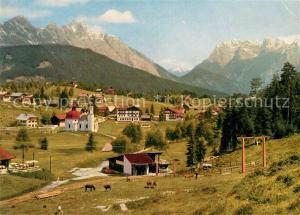 AK / Ansichtskarte Seefeld_Tirol Panorama Wetterstein Karwendelgebirge  Seefeld Tirol