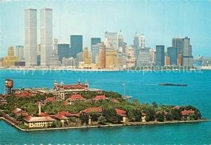 AK / Ansichtskarte New_York_City Lower Manhattan Twin Towers New_York_City