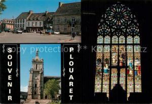 AK / Ansichtskarte Plouaret Place de la mairie Eglise et vitrail Plouaret