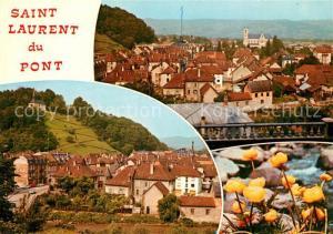 AK / Ansichtskarte Saint Laurent du Pont Vues d ensemble des fleurs Saint Laurent du Pont