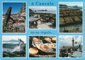 AK / Ansichtskarte Cancale Parcs a huitres Austernbaenke Cancale