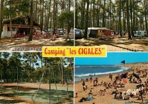Moliets_Plage Camping les Cigales Le Camping sous les pins pres de l Ocean Moliets_Plage