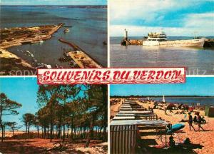 Le_Verdon sur Mer Vue generale sur le Port La Foret pres de l'Ocean Arrivee du Bas Vue generale de la Grande Plage Le_Verdon sur Mer